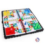 Portable Fold-able Parent-child Interactive Magnetic Chessboard Toy