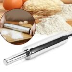Stainless Steel Rolling Pin Non-stick Pastry Dough Baking Kitchen Tool-Style D – 30cm