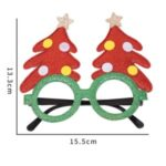 Christmas Glasses Decorative Eyeglasses Santa Snowman Bear Elk Frame Xmas Decor Kids Gift – R