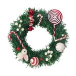 30cm/40cm/50cm Christmas Tree Wreath Xmas Garland Decoration – 40cm