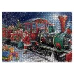 Christmas DIY Puzzle Painting Xmas Christmas Gifts Toy Home Party Decor – Santa