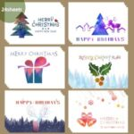 24Pcs Christmas Greeting Cards Set Mini Envelopes Blessing Cards Christmas Party Gift – Star