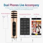 Professional Phone Condenser Microphone Recorder for Live Singing Recording – Gold