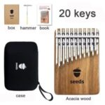 20-Key Kalimba Finger Thumb Piano with Storage Case Accessories & Gifts Set – Board Body