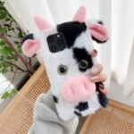 Cows Style Fur Coated TPU Phone Cover for iPhone 12 Pro Max 6.7 inch – Black