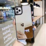 Mirror Surface Protector PC+TPU Phone Case for iPhone 11 Pro 5.8 inch – Silver