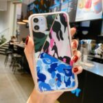 Fun Series Camouflage Geometric Splicing PC+TPU Hybrid Case for iPhone 12 Mini – Army Green/Rose/Blue