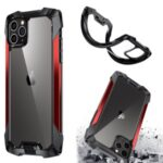 Quality Shockproof Metal + PC + TPU Hybrid Case for iPhone 11 Pro 5.8 inch Cover – Red