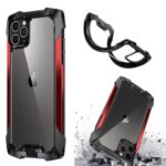 Quality Shockproof Metal + PC + TPU Hybrid Case for iPhone 11 Pro Max 6.5 inch Shell – Red