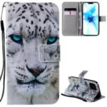 Patterned Leather Protective Case with Wallet Stand for iPhone 12/12 Pro – Tiger