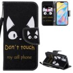 Patterned Wallet Stand Leather Case for iPhone 12 mini Shell – Feather and Cartoon Owl