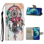 Pattern-Printing Leather Case with Wallet and Stand for iPhone 12 mini – Dreamcatcher