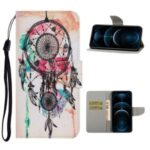 TPU + PU Leather Phone Cover Case with Pattern Printing for iPhone 12 Pro Max – Dreamcatcher