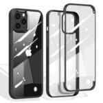 Double Sided Tempered Glass + TPU Hybrid Shell for iPhone 12 Pro/12 – Black