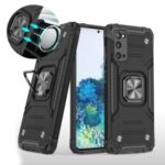 Detachable 2-in-1 Armor Style Kickstand TPU + PC Shell with Metal Sheet for Samsung Galaxy S20 – Black