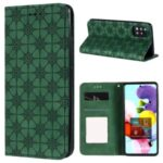 Imprint Flower Texture Auto-absorbed Cover for Samsung Galaxy A51 5G SM-A516 – Green