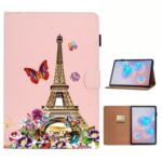 Pattern Printing Flip Leather Protective Case with Card Slots for Samsung Galaxy Tab S7 – Eiffel Tower