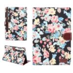 Floral Printed Cloth + PC Tablet Case for Samsung Galaxy Tab S7 Plus T970 (2020) – Black