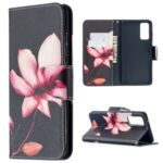 Pattern Printing Case Wallet Stand Leather Cover Protector for Samsung Galaxy S20 FE/S20 Fan Edition/S20 FE 5G/S20 Fan Edition 5G/S20 Lite – Pink Flower