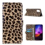Leopard Pattern Stand Leather Case for Samsung Galaxy M51 (International Edition) (Side Fingerprint Hole)