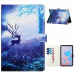 Patterned Leather Protector Stand Card Slots Tablet Cover for Samsung Galaxy Tab A7 10.4 (2020)/T500/T505 – Elk