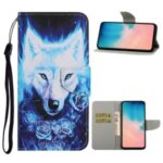 Pattern Printing Leather Wallet Stylish Stand Case with Handy Strap for 	Samsung Galaxy A71 SM-A715 – Wolf