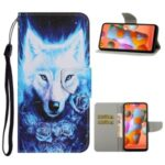 Faddish Pattern Printing Leather Wallet Case for Samsung Galaxy A21 – Wolf