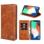 Flip Retro Leather Wallet Phone Case with Stand for Samsung Galaxy A51 SM-A515 – Brown