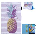 Patterned Stand Leather Protector Case for Samsung Galaxy Tab A7 10.4 (2020) SM-T500/T505 Shell – Pineapple