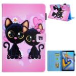 Newly Patterned Stand Leather Protector Case for Samsung Galaxy Tab A7 10.4 (2020) SM-T500/T505 – Black Cats