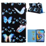Patterned Stand Leather Protector Cover for Samsung Galaxy Tab A7 10.4 (2020) SM-T500/T505 – Blue Butterfly