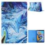 Pattern Printing Card Slots Leather Stand Tablet Case for Samsung Galaxy Tab A7 10.4 (2020) SM-T500/SM-T505 – Blue/Green