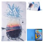 Pattern Printing Card Slots Leather Stand Tablet Case for Samsung Galaxy Tab A7 10.4 (2020) SM-T500/SM-T505 – Pineapple