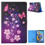 Pattern Printing Card Slots Leather Stand Tablet Case for Samsung Galaxy Tab A7 10.4 (2020) SM-T500/SM-T505 – Flower and Butterflies