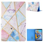 Pattern Printing Card Slots Leather Stand Tablet Case for Samsung Galaxy Tab A7 10.4 (2020) SM-T500/SM-T505 – Marble Pattern