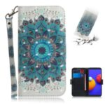 Light Spot Decor Pattern Printing Wallet Stand Leather Phone Cover with Strap for Samsung Galaxy A01 Core – Malanda Flower