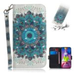 Light Spot Decor Pattern Printing Wallet Stand Leather Phone Case with Strap for Samsung Galaxy M51 – Malanda Flower