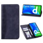 Business Style Splicing Stand Wallet Auto-absorbed Leather Protector Case for Huawei P smart 2020 – Dark Blue