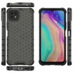 Honeycomb Pattern Shock-proof TPU + PC Hybrid Case for Huawei Enjoy 20 5G – Black