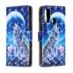 Patterned Light Spot Decor Leather Cell Phone Case for Huawei P smart 2020 – Wolf and Moon