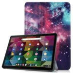 Pattern Printing PU Leather Tri-fold Stand Tablet Case for Lenovo Duet Chromebook – Cosmic Space