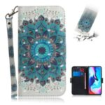 Light Spot Decor Pattern Printing Wallet Stand Flip Leather Case with Strap for Motorola Moto G9 Play/E7 Plus/G9 (India) – Malanda Flower