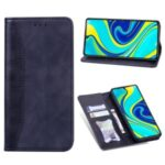 Business Splicing Stand Wallet Leather Protector Phone Case for Xiaomi Redmi Note 9 Pro/9 Pro Max/9S – Dark Blue