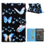 Pattern Printing Card Slots Flip Leather Tablet Case for Amazon Fire HD 10 (2017)/(2019) – Butterflies