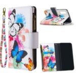 Printing Skin Zipper Pocket Leather Case for Oppo Reno3 Pro/Find X2 Neo – Vivid Butterflies