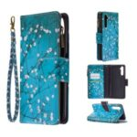 BF03 Pattern Printing Zipper Wallet Leather Phone Case for Realme 6 Pro – Vivid Flower