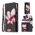 BF03 Pattern Printing Zipper Wallet Leather Phone Case for Realme C11 – Flower