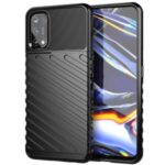 Thunder Series Twill Texture Soft TPU Case Mobile Shell for Realme 7 Pro – Black