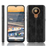PU Leather Coated PC + TPU Shell for Nokia 5.3 – Black