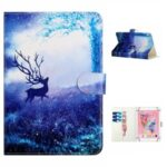 Universal Patterned  PU Leather Shell Protective Case for 8-inch Tablet – Elk in the Forest